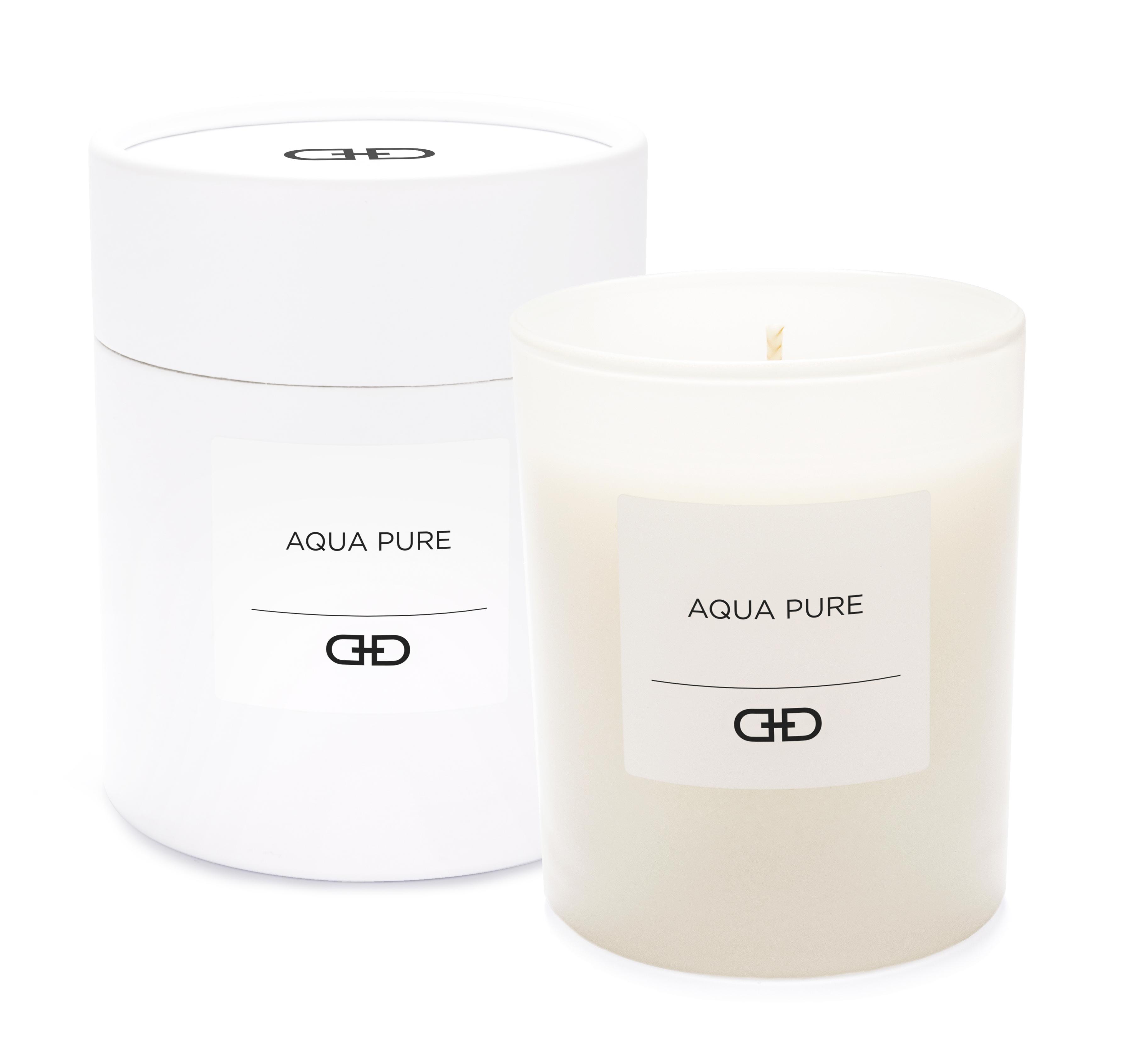 Aqua Pure - Black & White natural candle