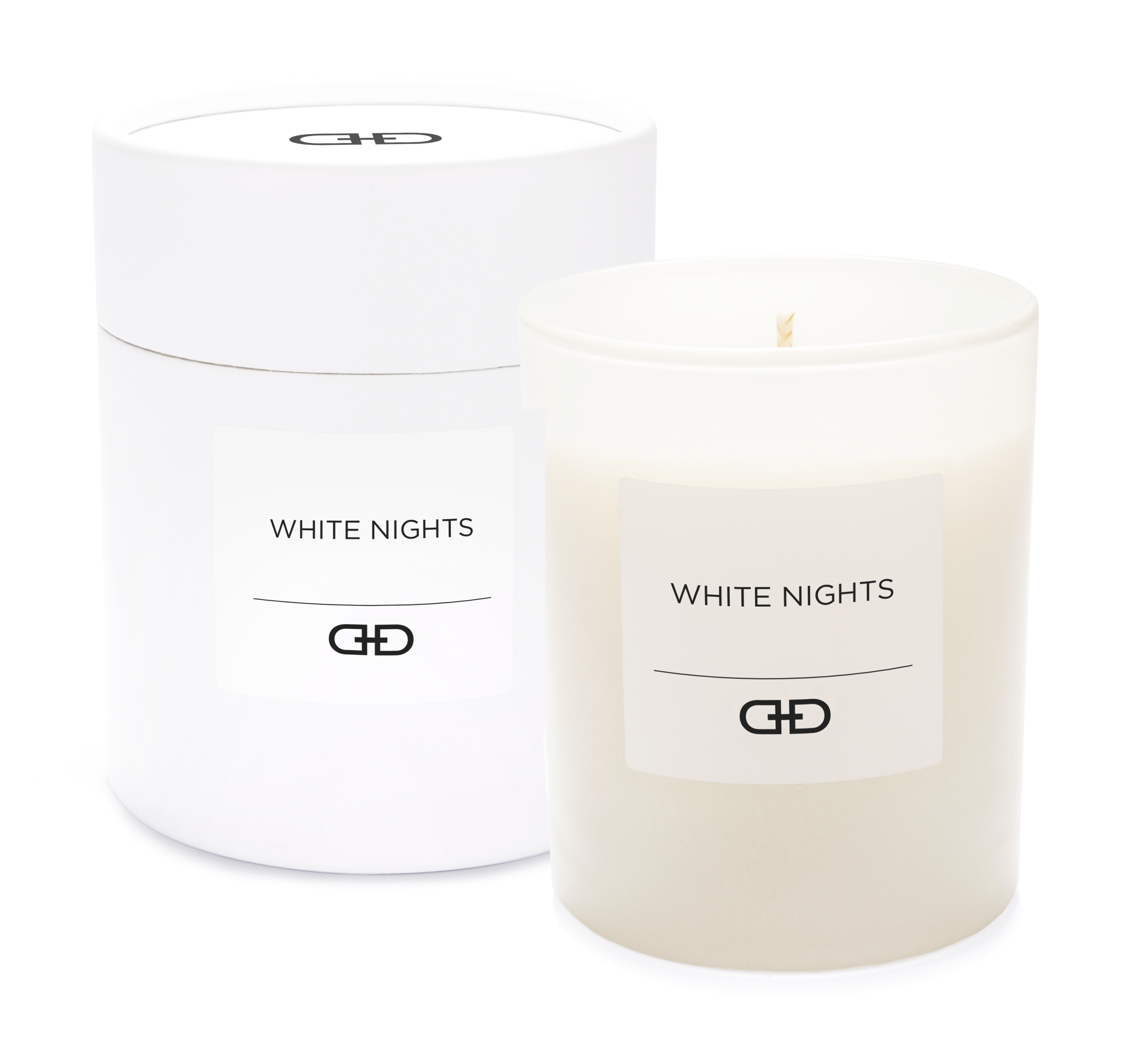White Nights - Black & White natural candle