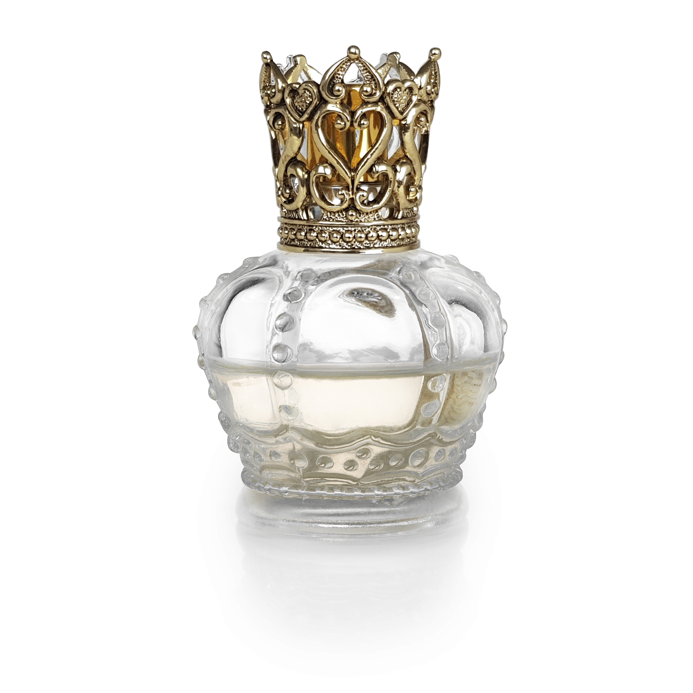 Crown Transparent Gold - Luftrensende Duftlampe
