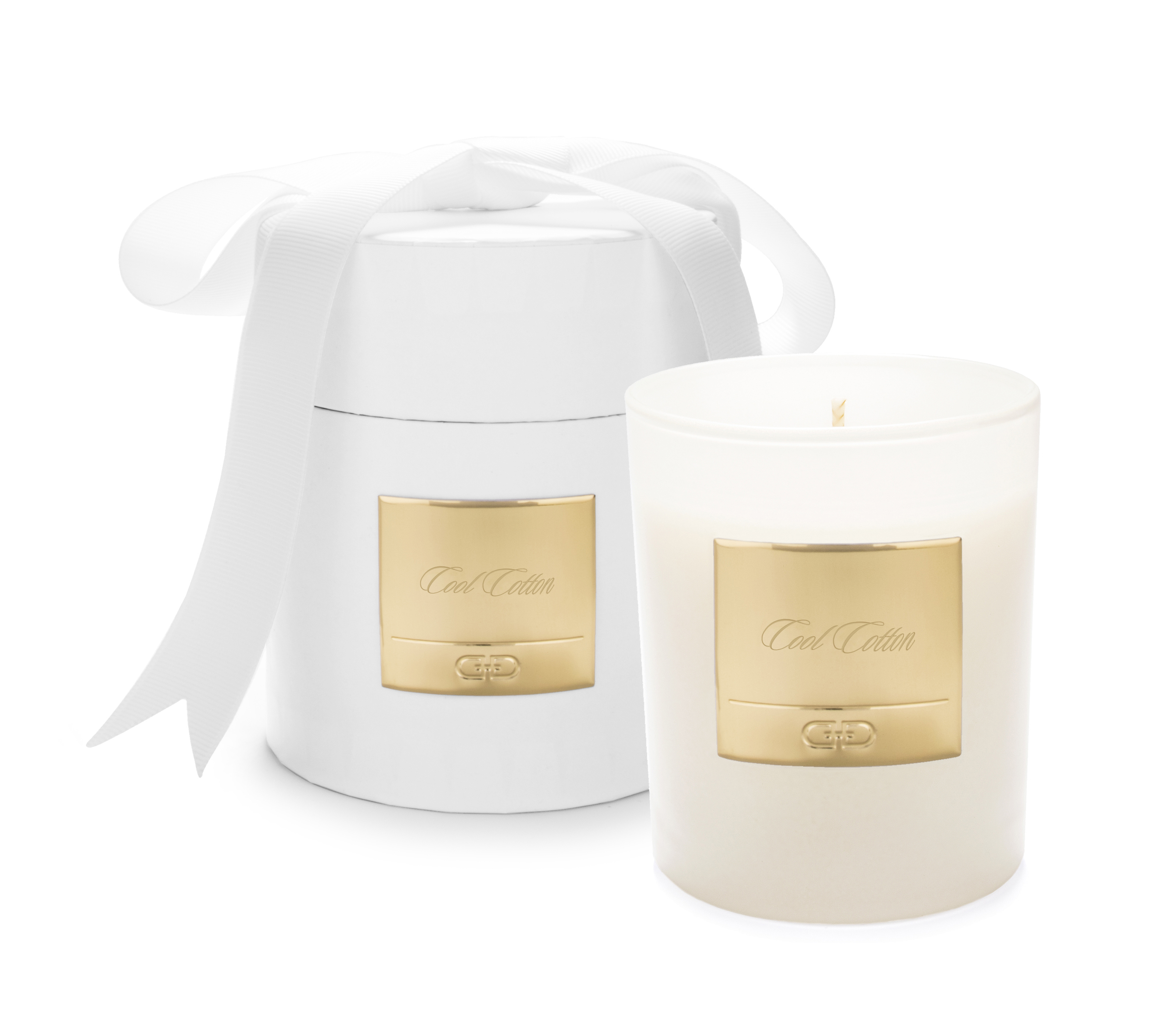 Cool Cotton - White & Gold luxury candle