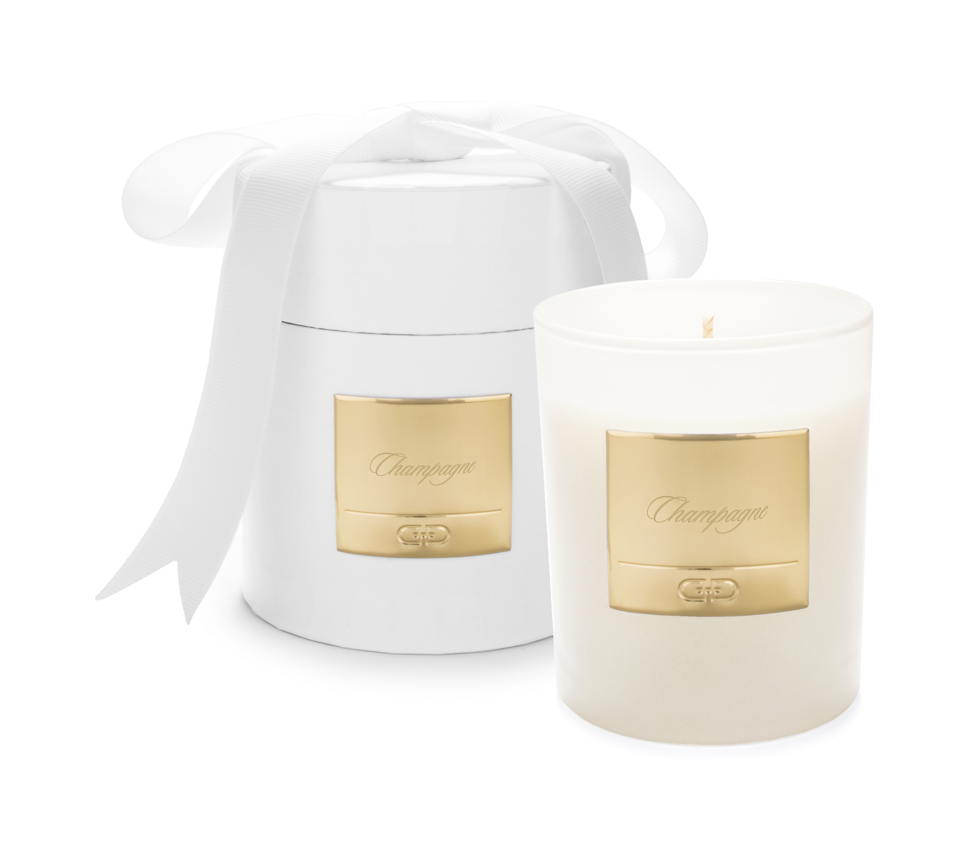 Champagne - White & Gold luxury candle