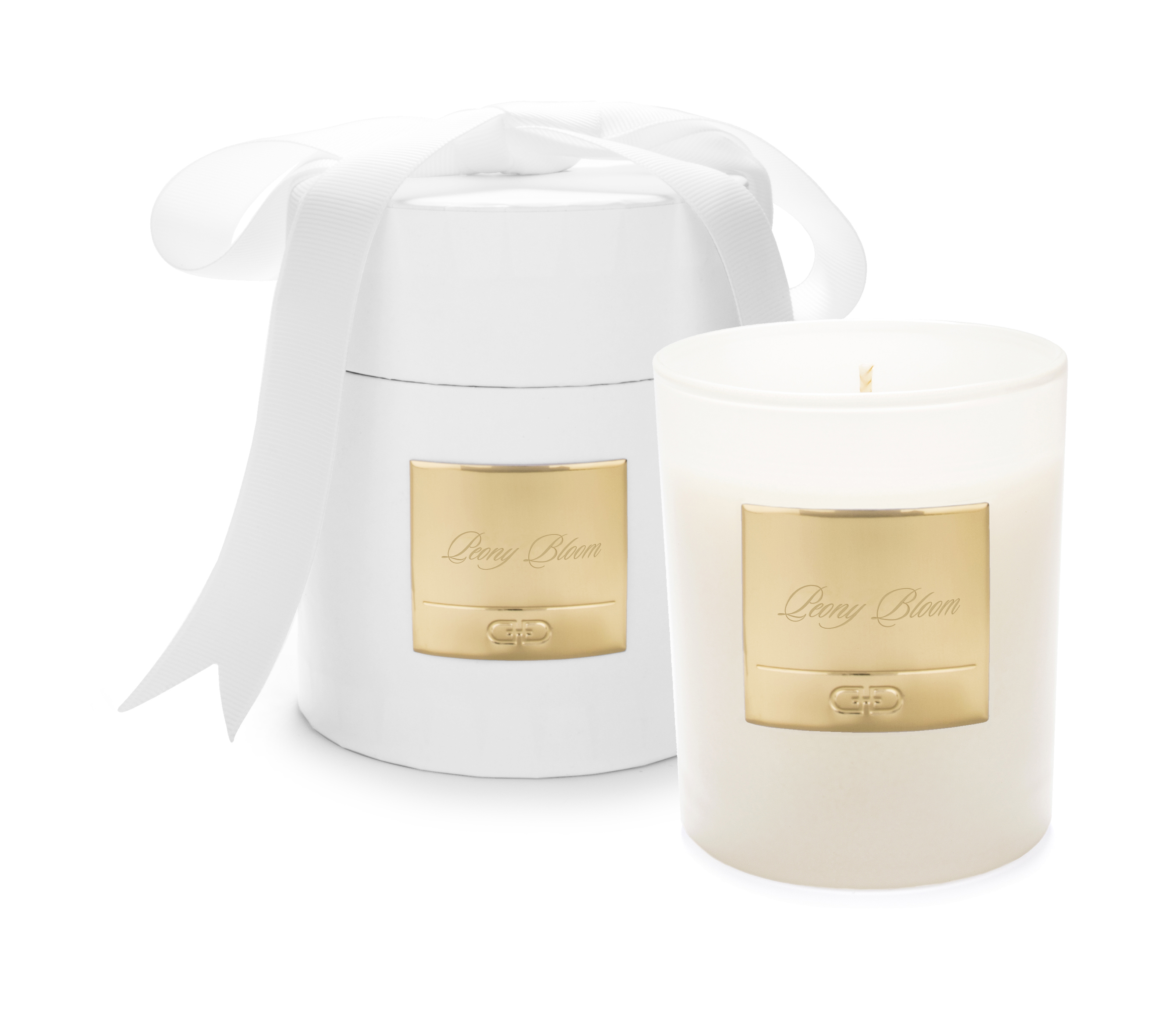 Peony Bloom – White & Gold luxury candle